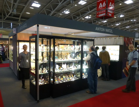AW Mineral's booth at Mineralientage München 2015